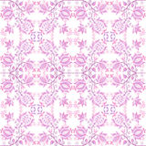 Pink floral wallpaper. On white background Stock Image