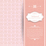 Pink floral wedding background. Seamless ink floral wedding background Stock Photos