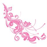 Pink flourish. A pink flourish design isolated on a white background stock illustration