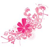 Pink flourish. A pink flourish design isolated on a white background royalty free illustration