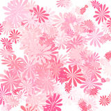 Pink flower art. Abstract art pink flowers on white background Stock Photo