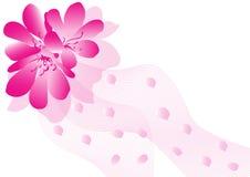 Pink flower background. On white royalty free illustration