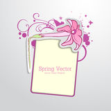 Pink flower blank Stock Images