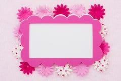Pink Flower border Stock Photos