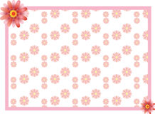 Pink flower border Royalty Free Stock Photography