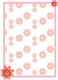 Pink flower border Royalty Free Stock Photos