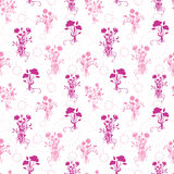 Pink flower bouquets seamless pattern background Stock Images
