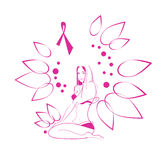 Pink Flower Breast Cancer Awareness Female Body Royalty Free Stock Photo