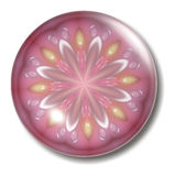 Pink Flower Button Orb stock illustration
