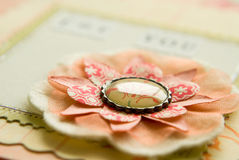 Pink flower craft royalty free stock photo