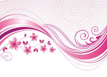 Pink flower. Floral background. Stock Photo