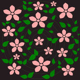 Pink flower, Flower pattern background Royalty Free Stock Photos