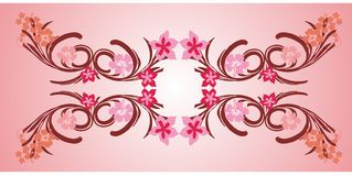 pink flower frame 01 Stock Photo