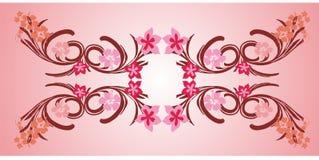 pink flower frame 01 Stock Photo