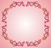 Pink flower frame 03. Pink flower organic decorative frame vector Royalty Free Stock Image