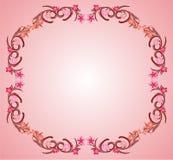 Pink flower frame 03. Pink flower organic decorative frame vector royalty free illustration