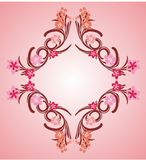 Pink flower frame 04 Stock Images