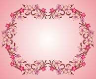 Pink flower frame 05 Royalty Free Stock Images
