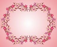 Pink flower frame 05. Pink flower organic decorative frame vector vector illustration
