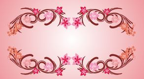 Pink flower frame 06 Stock Photography