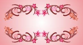 Pink flower frame 06. Pink flower organic decorative frame vector royalty free illustration