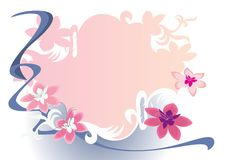 Pink flower frame Royalty Free Stock Photography