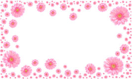 Pink Flower Frame On White Background Royalty Free Stock Image