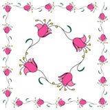 Pink flower garlands Stock Photography