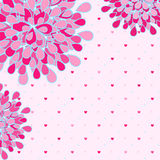 Pink Flower Greeting Card Royalty Free Stock Photo