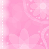 Pink flower and heart background Stock Photos