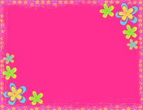Pink flower hippie background Royalty Free Stock Images