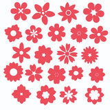 Pink flower icon. Pink flowers icon set, vector eps10 Royalty Free Stock Photography