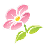 Pink Flower Icon Stock Photo