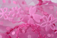 Pink Flower Lace Background Royalty Free Stock Photography