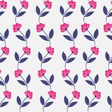 Pink flower and leaf seamless pattern. Pink and leaf pattern royalty free illustration
