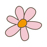 pink flower with oval petals icon Stock Photo