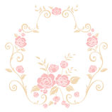 Pink flower pattern Stock Photos