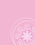Pink Flower Pattern Stock Photo