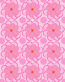 Pink flower pattern background Stock Photo