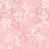 Pink Flower Pattern. White and pink flowers on a pink backround Royalty Free Stock Images