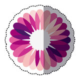 pink flower with petals icon Royalty Free Stock Photo