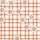 Pink flower plaid Royalty Free Stock Photography