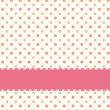 Pink flower polka dot seamless pattern Royalty Free Stock Photography