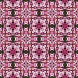 Pink flower seamless kaledoscope texture or pattern Royalty Free Stock Photo