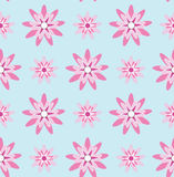 Pink Flower Seamless Pattern#4 Stock Images