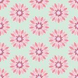 Pink Flower Seamless Pattern#2 Stock Photography
