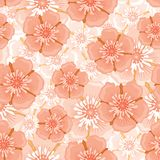 Pink flower seamless pattern Stock Images