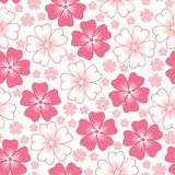 Pink flower seamless pattern Royalty Free Stock Image