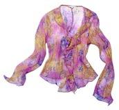 Pink flower silk blouse shirt Stock Images