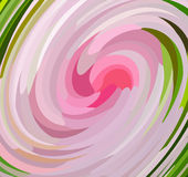 Pink flower. In spin stock illustration